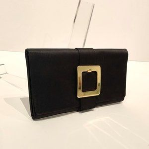 Cute  La Regale Black Clutch with Gold Accents